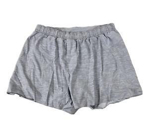 "Lululemon Women's 6 Heather Gray Athletic Shorts Skirt 28"" Waist Lined"