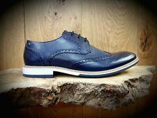 BASE LONDON // Hewitt // Mens Navy Brogues Shoes // NEW!!!