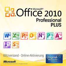 Microsoft Office Professional Plus 2010 für 1 PC • 32/64 Bit • PRO VOLLVERSION