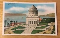 GRANT'S TOMB, NEW YORK CITY NY vintage white-border postcard