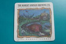 CANADA Beer Coaster ~*~ Flying Monkey The ROBERT SIMPSON Brewing ~ Barrel Runner