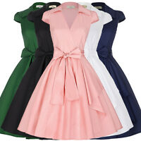 Vintage Style 50s Dress Retro Swing Pin Up Prom Party Cocktail Skater Tea Dress