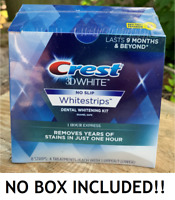 NO BOX  CREST 3D 1 HOUR EXPRESS NO-SLIP Whitestrips White Strips Teeth Whitening