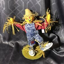 "Annalee Scarecrow 1993 12"" Happy Dancing Doll Fall Halloween Made In USA"