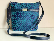 NEW! TOMMY HILFIGER BLUE GREEN MEDIUM CROSSBODY MESSENGER SLING BAG $69 SALE