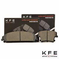 Premium Ceramic Disc Brake Pad FRONT + REAR New Set Plus Shims KFE1058 KFE1057