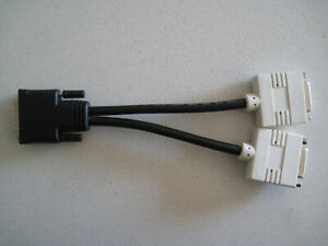 DMS-59 Pin Male (M) to Dual DVI Female (F) Y Splitter Cable, 0.2m