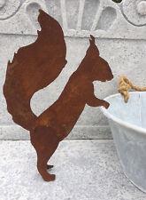 Eichhörnchen Neugierig Topfgucker L35cm Rost Edelrost Figur Rostfigur Tiere