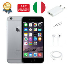 APPLE IPHONE 6 64GB NERO SPACE GREY ORIGINALE 12 MESI GARANZIA NUOVO ITALIA
