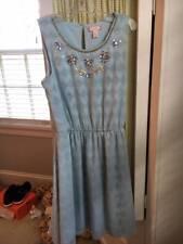 RUBY & BLOOM girls light blue embellished cotillion special occasion dress 14