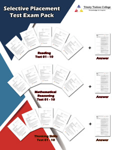 Selective Trial Test Exam Pack - Thinking Skills, Reading and Maths Reasoning