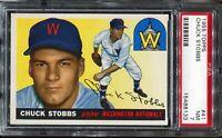 1955 Topps Baseball #41 CHUCK STOBBS Washington Nationals PSA 7 NM