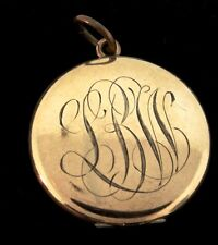 Vtg Victorian Bb Co Bliss Brothers Inscribed Gold Filled Photo Locket Pendant