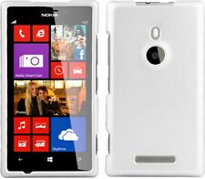 WHITE RUBBERIZED PROTEX HARD CASE COVER FOR TMOBILE NOKIA LUMIA 925 PHONE