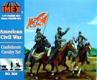 Imex 1/72nd ACW Confederate Cavalry Plastic Figures Set No. 504  New In Box!