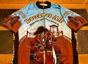 New Buccaneer Ale Seventh Planet Brewing Company Half-Zip Cycling Jersey In 2XL.