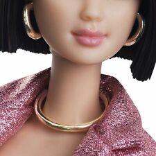 BARBIE DOLL BIG PLASTIC FAUX GOLD HOOPS EARRINGS /& NECKLACE SET