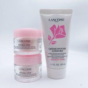 Set of 2 Lancome Hydra Zen Gel Creme 15ml/0.5oz and Creme-Mousse Cleanser 1.7 oz