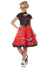 GIRLS RED 50S SWEETHEART COSTUME Child Size 6-8