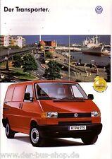 11//96 VW Bus t4-Prospetto//Listino prezzi-CARAVELLE