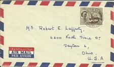 Mauritius SG#303(single frank)Vacoas 15/SP/66 Airmail to USA