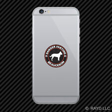 Danger Farting Beauceron Cell Phone Sticker Mobile Die Cut