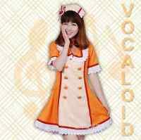 Hatsune Miku Vocaloid Koi Iro Byoutou Orange Nurse Costume Cos Cosplay 3 sizes