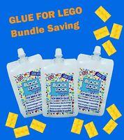 LEGO GLUE 3 x Pouch bundle Megabloks brick sets Starwars City Ninjago Minecraft