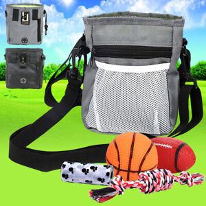 Dogs Puppy Pet Treat Training Pouch Side Pocket Poop Bag Dispenser Waist Belt