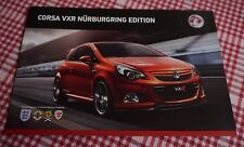 BRAND NEW Vauxhall Corsa VXR Nurburgring Edition Brochure, June 2011