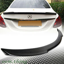 STOCK USA Carbon MERCEDES BENZ W205 Sedan C-Class V Trunk Spoiler 2017 C300