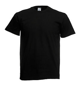 The Original Fruit Of The Loom Men's Ladies T Shirt New Value Plain Blank Tee