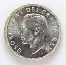 1952 Canada Silver 25 Cent George VI Km44 Low Relief - CH BU #01281947g