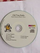Crime Detective Mystery Old Time Radio shows OTR -  Disc 1 - Mp3 CD
