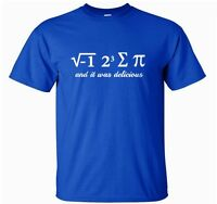 I ATE SUM Pi TSHIRT - Science Geek Maths T-Shirt Top gift s-xxl
