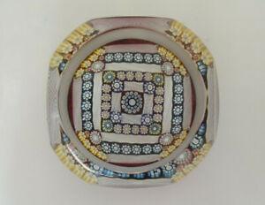 "Ltd Ed Perthshire 2000 PP214 - Square Design Paperweight - 2 3/8"""