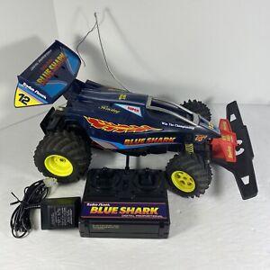 90s Vintage Radio Shack BLUE SHARK RC Works! Includes 9.6V BATTERY/CHARGER!
