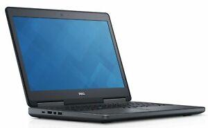 """Dell Precision 7520 Workstation 15.6"""" Intel i7-7820HQ 16GB 512GB SSD Win 10 Pro"""