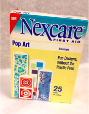 "Nexcare First Aid Bandages - Pop Art Sterile 3/4"" x 3"" –– 25/Box. NEW"
