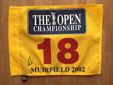 Ernie ELS SIGNED AUTOGRAPH AFTAL COA Muirfield 2002 Golf Flag Open GENUINE
