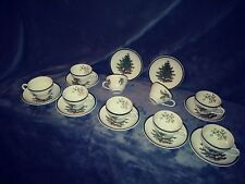 9 Cuthbertson Original Christmas Tree Cups Saucers Holly In/Out Wide Band