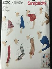 New Listing1930's Simplicity Sewing Pattern 8506 Set of Vintage Sleeves Sizes 10-22 Uncut