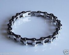 "Bike Chain Style Men's 8.5"" Long Stainless Steel Bracelet Motorcycle Biker 1"