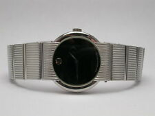 MOVADO CONCERTO CLASSIC LUXURY STAINLESS STEEL BLACK DIAL LADIES WATCH