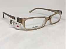 MAX MARA MM920/U EVG Eyeglasses Frame Italy 53-17-135 Light Beige Crystal KG34