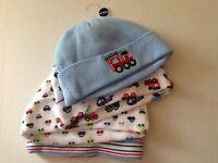 Gerber Newborn Infant Baby Boys Train Car Beanie Hat Cap Blue 5-8 LB, 4-piece