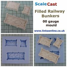 Linka Compatible Timber FILLED Bunkers  - OO Gauge Railway Scenery