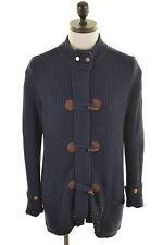 Tommy Hilfiger Homme Cardigan Pull Large Coton Bleu Marine