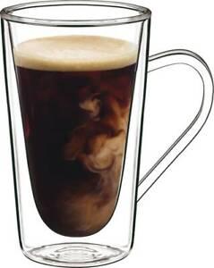 Luigi Bormioli Thermic Double Wall Glassware: 2pc Hot Drink Mug Set (14oz)