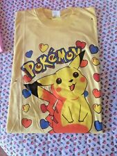 POKEMON MAGLIETTA gialla T-SHIRT TAG .UNICA VEDI MISURE IN DESCRIZIONE Pikachu